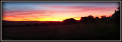 """""""The Fire  Aflame"""" (""""PatH Images"""") Tags: sunrise fields hills story silhouette england dorset"""