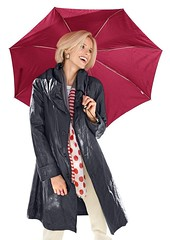 shiny raincoat (betrenchcoated) Tags: raincoat regenjacke regenmantel beautifulgirl shiny umbrella