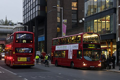 Arriva London DW129 LJ05GKY Route 59 Waterloo (TfLbuses) Tags: tfl public transport for london red double decker buses wrightbus gemini arriva go ahead central volvo b9tl