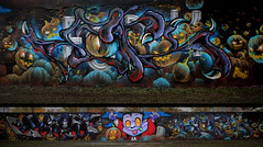 """Bat claw"" (FORK4 / AFX / SW307 / UBS) Tags: graffporn creepy horror trickortreat pumpkin vampire molotowpremium flamepaint joiner bat night blood teeth stone cemetery graveyard"