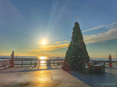 Seaside Holiday Collection 3 . (megmcabee) Tags: sky blue christmas northbeach maryland chesapeakebay holidays tree boardwalk soldier