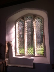 Photo of 2010 Three windows at Middleton Church in Suffolk, near Saxmundham