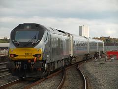 Chiltern Railways Class 68 68014 departs from Birmingham Moor Street (Oz_97) Tags: birminghammoorstreet chilternrailways 68014 directrailservices