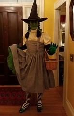 Sean Brown dressed as the Wicked Witch of the West dressed in her 2016 Halloween costume, Dorothy Gale. (Halloween in Oz) Tags: seanbrown wickedwitchofthewest halloween2016 salem ma hawthornehotelcostumeball sevendeadlysins glinda oz halloweeninoz salemhauntedhappenings2016