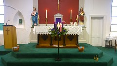 Third Sunday of Advent. (mcginley2012) Tags: drumoghill church altar advent adventcandle adventwreath candle lumia1020 cameraphone codonegal ireland faith