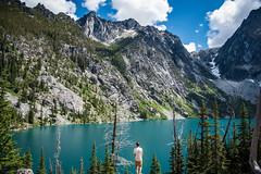 Soaking up nature (Nicholas_Steven_) Tags: outdoor mountain landscape mountainside ridge peak cliff lake colchuck washington hiking earth travel scenic