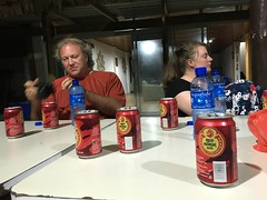 Drinking red horse beer, imported from the Phillipines by Andrew Ponton wich i met in Kiribati!