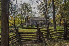 Split Rail Fence (Larry Senalik) Tags: 2016 canon dslr illinois lincoln new salem state t3i autumn fall historic site