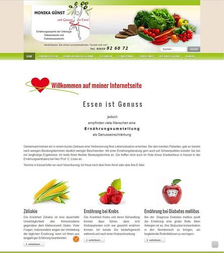 Die #Website der Ernährungsberatung Monika Günst aus Naumburg hat ein neues #Design bekommen. Sie wurde technisch auf den neuesten Stand gebracht. Mit der Nutzung eines modernen Content Management Systems stellt sich die #Webseite in einem neuen #Responsi