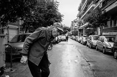 (NikosAntonopoulos) Tags: man old street photo rain athens greece