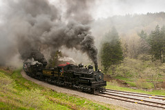Cass Shay 6 leading train D5970-1 (charles buccola) Tags: cass shay cloudy spring steamlocomotive touristrr