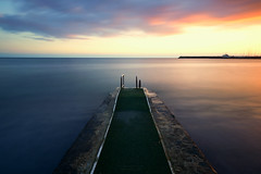 Green path (Alex Apostolopoulos) Tags: jetty longexposure sunset clouds path pathway seascape sky photography seaside water sea november cyprus sony sonya6000 ilce6000 samyang haida nd filter samyang12mmf20ncscs manfrottobefree