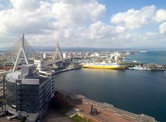 Aomori city, Japan (Kiraha Piki) Tags: landscape city japan aomori sea ship 645 mamiya mamiya645