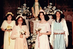The Bridal Party (~ Lone Wadi Archives ~) Tags: wedding bridalparty portrait lostphoto foundphoto retro 1980s mysterious unknown