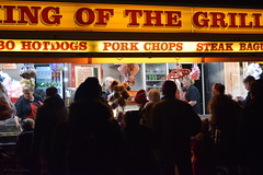 KING OF THE GRILL - jumbo hotdogs, pork chops, steak baguettes (PGview) Tags: food fastfood guyfawkes uk england northwest cheshire luminous candy sweets hotdogs baguettes family friends fun community night drinks cold hats gloves menu cans banner