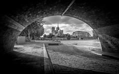 Into the darkness (aurlien.leroch) Tags: paris france notredame cityscape blackandwhite noiretblanc monochrome nikon d7100 darkness travel