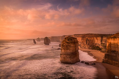 Apsotles Sunset (mark.iommi) Tags: 12apostles greatoceanroad victoria australia sunset shoreline seascape longexposure