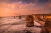 Apsotles Sunset (mark.iommi) Tags: 12apostles greatoceanroad victoria australia sunset shoreline seascape longexposure