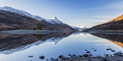 The Pap of Glencoe (Kathy ~ FineArt-Landscapes) Tags: lochleven glencoe mountains snow reflections blueskies scotland britain water light