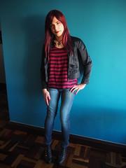 2016.11-01 (SamyOliver) Tags: samycd samyoliver samanthaoliver samantha shemale samy crossdresser crossdress redhead genderfluid rock rockchick rockgirl oliver boytogirl modeling tranny transvestite transformista brazil