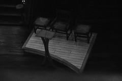 (Jean-Luc Léopoldi) Tags: bw noiretblanc paysbasque église church pupitre chaises obscurité darkness loom gloom