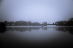 Glienicker Brücke (Thomas Timm) Tags: d5100 nikon potsdam bw blackandwhite germany