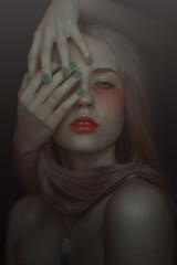 Beyond (devieurynome) Tags: hands makeup mystic selfportrait portrait sorrow