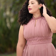 Lace Detail Maxi Dress by Girl With Curves (GirlWithCurves) Tags: girlwithcurves maxidress plussizefashion plussizeblogger taneshaawasthi curlyhair