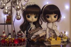 It's almost Christmas! (Brie G.) Tags: dals dolls dollfamily sisters dalcoco dalpuki rement rilakkuma sylvanianfamilies calicocritters bunny christmas sanx junplanning obitsu