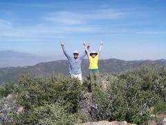 MM & BC on summit of Iron Spring Mtn.