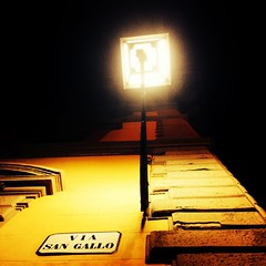 I'm lost without stopping. You light my way. (karadumanesraa) Tags: street light italy lamp wall night lost florence shine you streetlamp via firenze inthedark