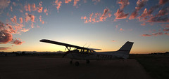 Going flying - Rocky Mountain Sunset & N733XB (Trevor Bair) Tags: nightflight kiek cessna172 iphone5 n733xb ifrtraining