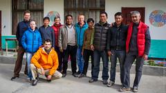 Моя группа и тибетский персонал