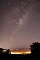 Milky Way over Stokes Valley (b.landscape) Tags: longexposure newzealand night stars wellington northisland lowerhutt milkyway boulderhill kelson stokesvalley belmontregionalpark nznl