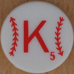 Major League Baseball Scrabble Letter K (Leo Reynolds) Tags: k tile scrabble letter squaredcircle kkk oneletter letterset grouponeletter xsquarex xleol30x sqset107 xxx2014xxx