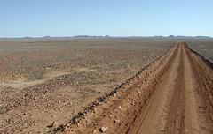 One of the outback roads around Innaminka (spelio) Tags: travel track flat outback np arid