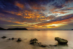 Red Dawn (nurshammamat) Tags: morning sunset sky sun art sunrise landscape amazing nice nikon shade malaysia slowshutter stunning senja mersing niceview nd400 nd500 lightcraftworkshop