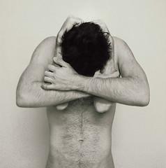 [004/365] Sweet Despair (Daniel Serva) Tags: boy white storm man black naked hug arms mind despair confusion