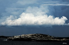Island Under Clouds (photo fiddler) Tags: storm clouds island august shadbay 2014 innergull