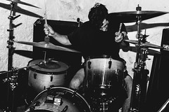 Noise (Kirk Martyn) Tags: show original blackandwhite metal dark drums friend punk flash band flashphotography hardcore pearl drumming heavy loud grindcore basementshow canon28mmf18usm canont4i imperialdrums