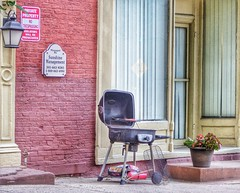 City Grillin' (podolux) Tags: urban lumix md maryland grill grilling frederick urbanlandscape 2014 postprocessing urbanscene frederickcounty tonemapped snapseed dmcfz200 lumixdmcfz200 august2014