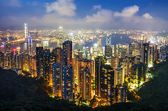 香港 - The Peak, Hong Kong (urbaguilera) Tags: china city blue sky architecture night skyscraper buildings bay design nikon asia cityscape republic angle harbour terrace daniel wide peak victoria tokina hong kong peoples hour 夜景 建築 風景 aguilera 天空 density 設計 光影 海港 美麗 摩天大樓 觀景 山上 凌霄閣 中華人民共和國香港特別行政區 d5000 香港山頂 1116mm urbaguilera 城市之美