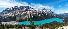 Peyto Lake (NettyA) Tags: summer mountain lake canada clouds landscape alberta northamerica canadaday banffnationalpark peytolake icefieldsparkway canadianrockies 2014 bowsummit sonynex6