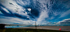 Humber_Bridge-20140716_135453-2.jpg (IanR/ID Fotografie) Tags: sky clouds fisheye bigsky suspensionbridge humberbridge riverhumber extractionfromfisheyeview