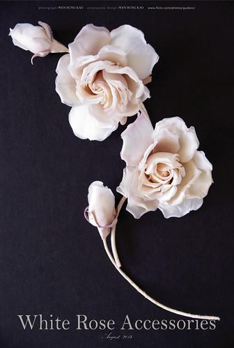 白玫瑰胸花花飾
