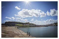 Whitby Basking in the Sun (MrSteMcD) Tags: camera sea river angle sony yorkshire north wide sigma estuary fisheye whitby alpha dslr 16mm esk a99