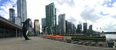 Digital Ocra and Vancouver Skyline (mdoeff) Tags: vancouver panoramic vancouverskyline iphonepanoramic digitalorca