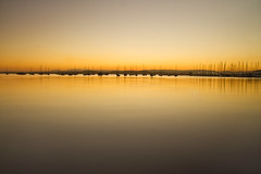 Belmont Sunset Minimalism (loobyloo55) Tags: sunset lake water boats newsouthwales centralcoast