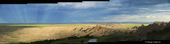 Ancient Hunters Overlook and Reverse Sun Rays, Badlands National Park, South Dakota [5516, 5517,5518,5519,5520] (cl.lin) Tags: sun nature southdakota nikon panoramas panoramic badlands sunrays badlandsnationalpark d600