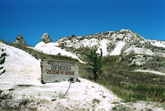 """Welcome to Greme"" (Simooooon) Tags: mountain film rock canon turkey 50mm fuji ae1 valley cappadocia greme westerns"
